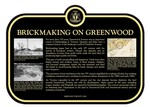 Brickmaking on Greenwood Commemorative plaque, 2018.