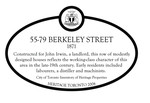 55-79 Berkley Street Heritage Property Plaque, 2008