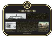 Trillium Ferry Commemorative Plaque, 2010