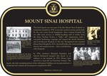 Old Mount Sinai Hospital Heritage Property Plaque, 2010