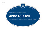 Anna Russell Legacy Plaque, 2011
