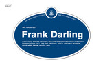 Frank Darling Legacy Plaque, 2011