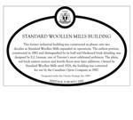 Standard Woollen Mills Building Heritage Property Plaque, 2011