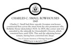 Charles C. Small Row-Houses Heritage Property Plaque, 2011