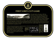 First Grey Cup Game Commemorative Plaque, 2012