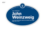 John Weinzweig Legacy Plaque, 2012