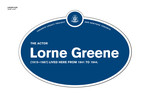 Lorne Greene Legacy Plaque, 2012