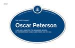 Oscar Peterson Legacy Plaque, 2012