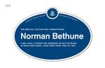 Norman Bethune Legacy Plaque, 2013