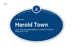 Harold Town Legacy Plaque, 2013
