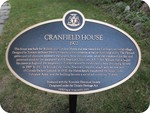 Cranfield House Heritage Property Plaque, 2013