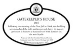 Gatekeepers House Heritage Property Plaque, 2013