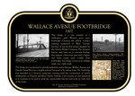 Wallace Avenue Footbridge Heritage Property Plaque, 2014