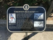 Torontos Reggae Roots Commemorative Plaque, 2015