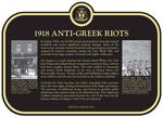 1918 Anti-Greek Riots Commemorative Plaque, 2015