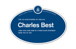 Charles Best Legacy Plaque, 2015