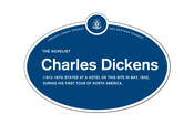 Charles Dickens Legacy Plaque, 2015
