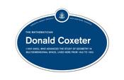 Donald Coxeter Legacy Plaque, 2015