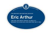 Eric Arthur Legacy Plaque, 2015