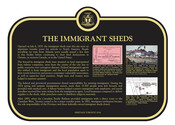 The Immigrant Sheds Commemorative Plaque, 2016