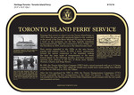 Toronto Island Ferry Service Commemorative Plaque, 2016