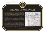 Village of Yorkville Commemorative Plaque, 2016