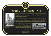 Yorkville Town Hall Commemorative Plaque, 2016