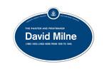 David Milne Legacy Plaque, 2016