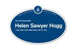 Helen Sawyer Hogg Legacy Plaque, 2016