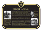 Albert Jackson Commemorative Plaque, 2017