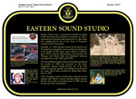 Eastern Sound Studio Commemorative Plaque, 2017