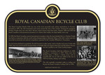 Royal Canadian Bicycle Club Commemorative Plaque, 2017