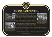 Le Coq dOr Tavern Commemorative Plaque, 2017