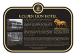 Golden Lion Hotel Commemorative Plaque, 2017