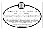 Home Furniture Carpet Co. Heritage Property Plaque, 2017
