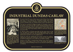 Industrial Dundas-Carlaw Commemorative Plaque, 2018