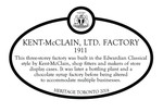 Kent-McClain,  Ltd. Factory Commemorative Plaque, 2018