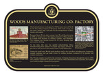 Woods Manufacturing Co. Factory Commemorative Plaque, 2018
