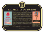Reliable Toy Co. Factory Commemorative Plaque, 2018