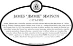 "James ""Jimmie"" Simpson Commemorative Plaque, 2018"