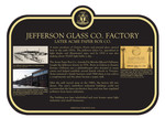 Jefferson Glass Co. Factory Commemorative Plaque, 2018