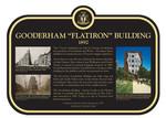 "Gooderham ""Flatiron"" Building, Heritage Property Plaque, 2019."