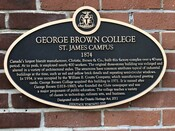 George Brown College Heritage Property Plaque, 2019.
