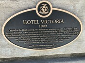 Hotel Victoria Heritage Property Plaque, 2019.