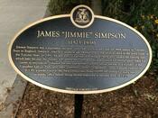"""James """"Jimmie"""" Simpson Commemorative Plaque, 2018."""