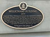 Millichamp Building Heritage Property Plaque, 2019.