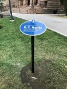 R. C. Harris Legacy Plaque, 2019.