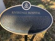 Riverdale Hospital Commemorative Plaque, 2020.
