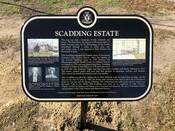 Scadding Estate Commemorative Plaque, 2020.