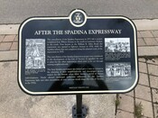 """""""After the Spadina Expressway"""" plaque part of the Spadina Expressway Commemorative Plaque series, 2010."""
